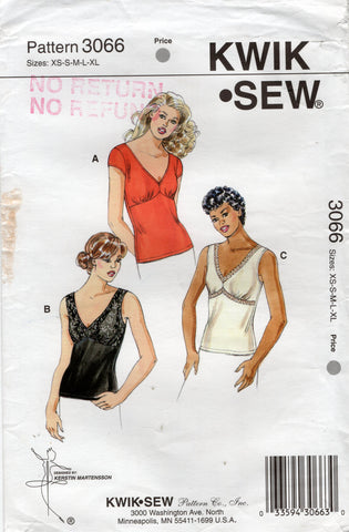 kwik sew 3066 oop stretch tops