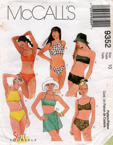 McCall's 9352 90s swimsuits