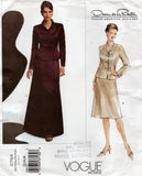 Vogue American Designer 2764 OSCAR DE LA RENTA Womens Skirt Suit Out Of Print Sewing Pattern Size 12 - 16 UNCUT Factory Folded