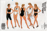 Vogue 7877 Womens Stretch Exercise Wear Tops Shorts Pants Bodysuit 1990 Vintage Sewing Pattern Size 12 - 16 UNCUT Factory Folded