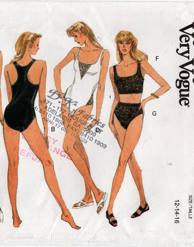 vogue 8788 90s exercise wear