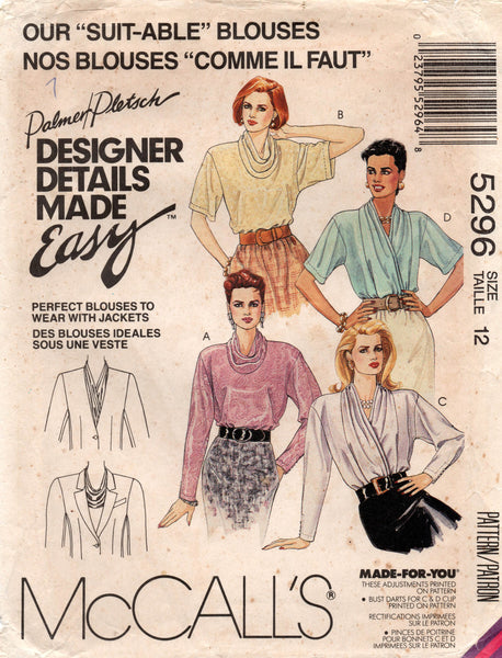 McCall's 5296 90s blouse