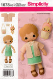 simplicity 1678 gingermelon doll