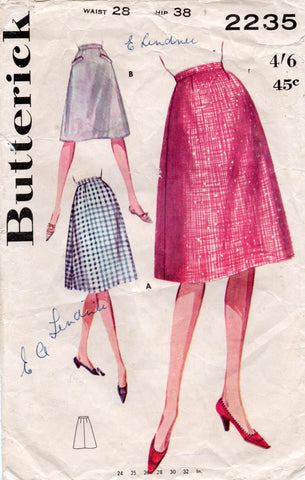 butterick 2235 60s skirt