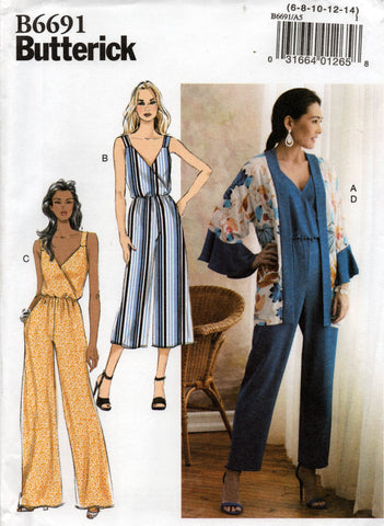 butterick 6691 jumpsuit and jacket