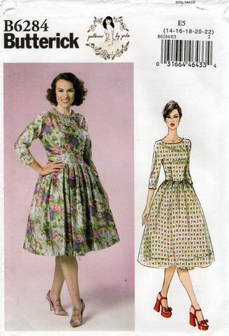 butterick 6164 oop gerties 50s dress