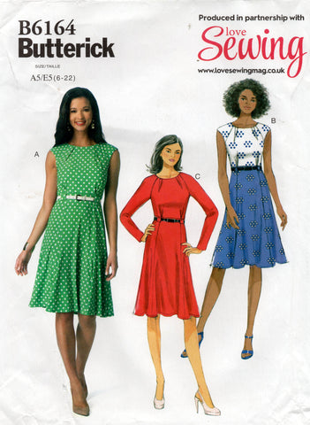 butterick 6164 oop dress