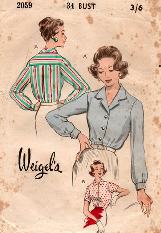 weigel's 2059 50s blouse