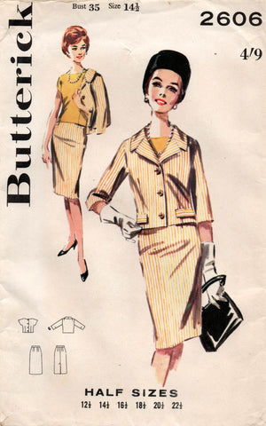 butterick 2606 60s skirt suit