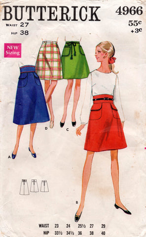 butterick 4966  60s skirt