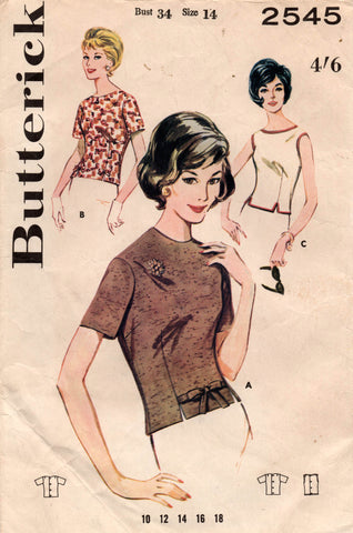 butterick 2545 60s blouse