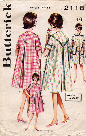 butterick 2118 60s brunch coat