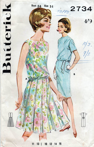 butterick 2734 60s dress