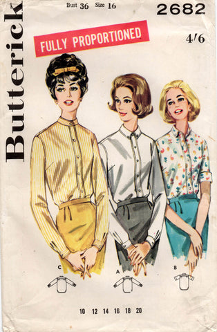 butterick 2682 60s blouses