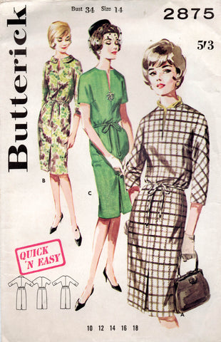 butterick 2875 60 s dress