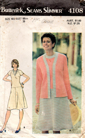 butterick 4108 70s dress and jacket