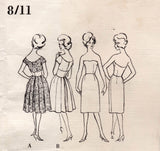 Vogue Couturier Design 1002 Womens Midriff Panelled Evening Gown Slip & Stole 1960s Vintage Sewing Pattern Size 14 Bust 34 inches