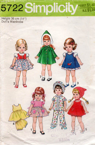 simplicity 5722 dolls clothes