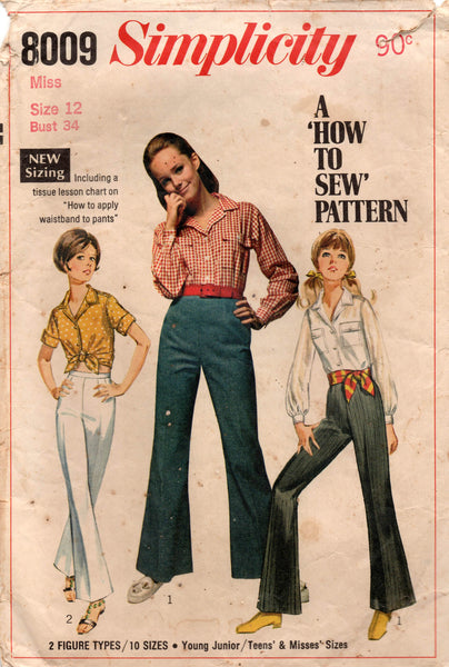 simplicity 8009 60s shirt and pants