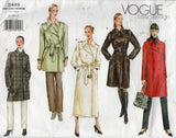 Vogue Basic Design 2449 Womens PLUS SIZE Lined Trench Coats Out Of Print Sewing Pattern Size 18 - 22 UNCUT Factory Folded