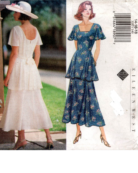 butterick 3357 eileen west 90s dress