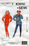 Kwik Sew 2057 Womens Stretch Pullover Tops Tunics Tights Stirrup Pant 1980s Vintage Sewing Pattern Size XS - XL UNCUT Factory Folded