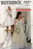 butterick 4501 wedding dress