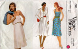 Vogue 7601 Womens Pleated Sundress or Strapless Dress & Jacket 1980s Vintage Sewing Pattern Size 14 Bust 36 inches