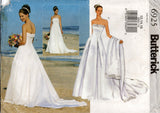 Butterick 6925 Womens Strapless Evening Prom Bridal Gown & Shrug Out Of Print Sewing Pattern Size 12 - 16 UNCUT Factory Folded