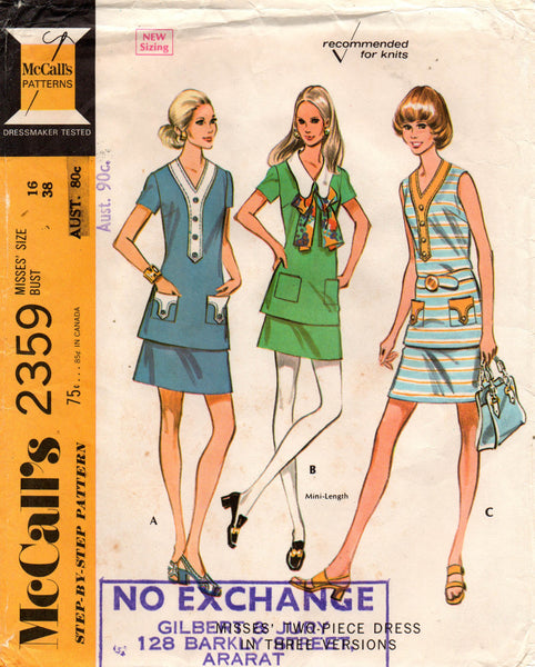 McCall's 2359 70s tops and skirts