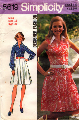 simplicity 5619 70s shirtdress