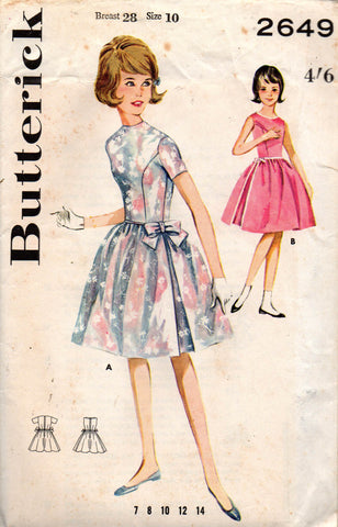 Butterick 2649 girls 60s dress