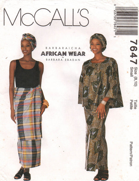 McCall's 7647 african wear