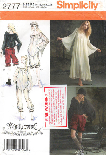 Simplicity 2777 archivestry clothing