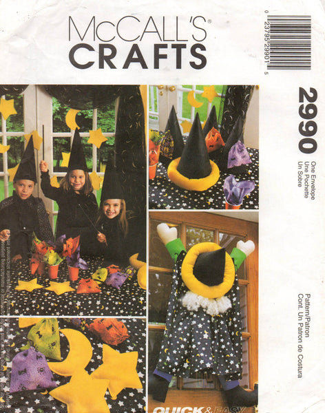 McCall's 2990 wizard party accessories