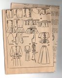 Distinction 482 Womens Peplum Jacket & Flared Skirt 40s Vintage Sewing Pattern Bust 34 Inches UNUSED Factory Folded