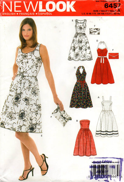 2499c3e633d New Look 6457 Womens Sundress with Halter   Strapless Variations with