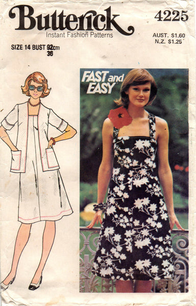 butterick 4225 70 s dress and jacket