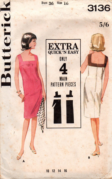 Butterick 3136 60 shift dress