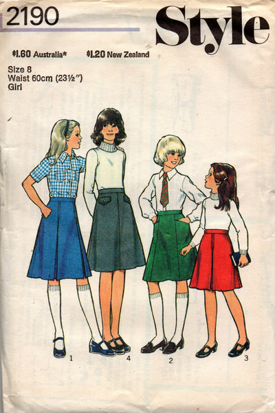Style 2190  70s girls skirts