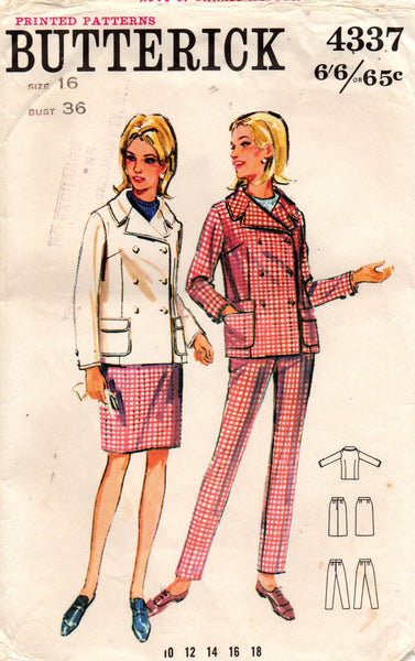 butterick 4337 60s skirt pants and jacket