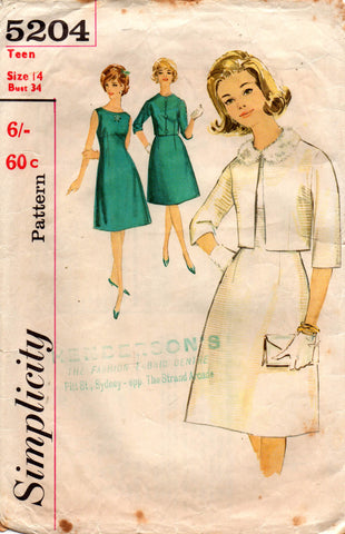 Simplicity 5204 60s dress and jacket