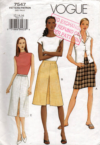 vogue 7547 oop skirts