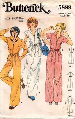 butterick 5889 70s jumpsuit