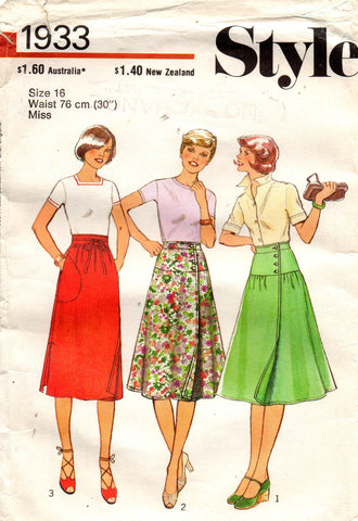 Style 1933 70s wrap skirts