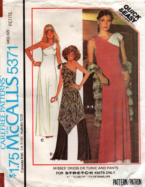 McCall's 5371 one shoulder dress and pants