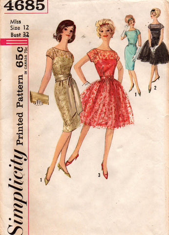 simplicity 4685 60s dresses and slips.