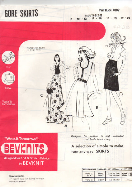 Bevknits 7002 stretch skirts