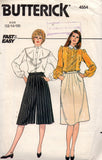 Butterick 4554 80s skirt and culottes