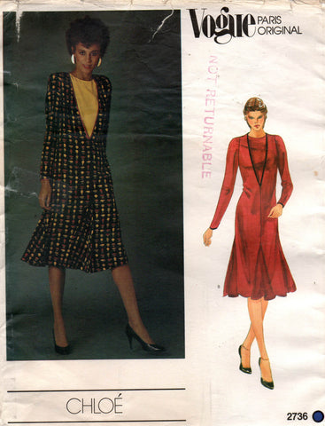 Vogue Paris Original 2736 Chloe dress 80s